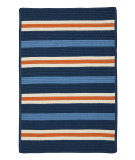 RugStudio presents Colonial Mills Painter Stripe Ps41 Set Sail Blue Braided Area Rug